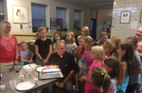 Birthday suprise for Father Wojciech